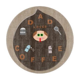 おもしろいなパパモンスターはコーヒーガラスまな板を愛します カッティングボード