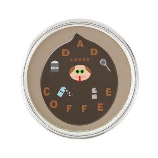 おもしろいなパパモンスターはコーヒーラペルピンを愛します ラペルピン