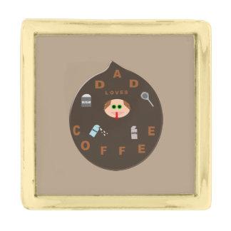 おもしろいなパパモンスターはコーヒーラペルピンを愛します 金色 ラペルピン