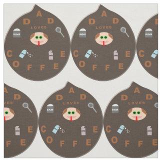 おもしろいなパパモンスターはコーヒー技術の生地を愛します ファブリック