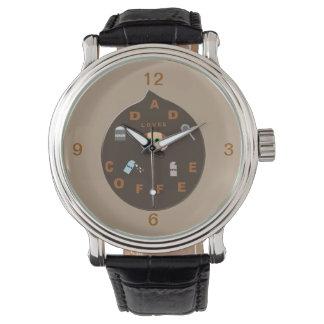 おもしろいなパパモンスターはコーヒー腕時計を愛します 腕時計