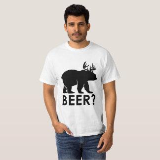 おもしろいなビールしゃれのギャグのTシャツ Tシャツ