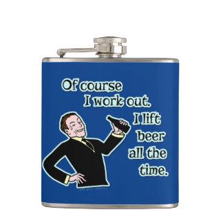 おもしろいなビールはユーモアのレトロを解決します フラスク