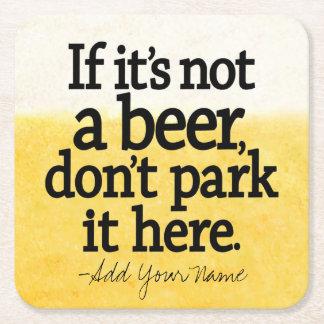 おもしろいなビール引用文-それにあなたの発言をして下さい スクエアペーパーコースター