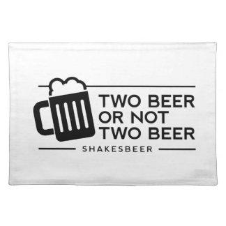 """おもしろいなビール""""2ビールかない2ビール"""" ランチョンマット"""