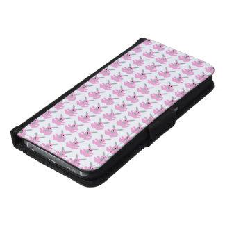 おもしろいなピンクのイースターのウサギ GALAXY S6 ウォレットケース