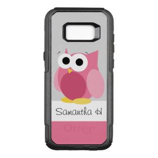 おもしろいなピンクのフクロウの名前入りなSamsungの銀河系S8 オッターボックスコミューターSamsung Galaxy S8+ ケース