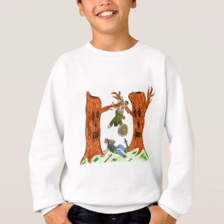 おもしろいなファンタジーの木 スウェットシャツ