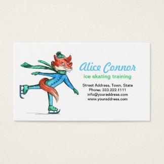 おもしろいなフィギュアスケートのキツネのトレーナーの名刺 名刺