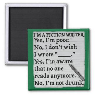 おもしろいなフィクションの作家の解答集の紙 マグネット