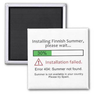 おもしろいなフィンランドの夏の磁石 マグネット