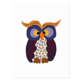 おもしろいなフクロウの原住民の芸術 ポストカード