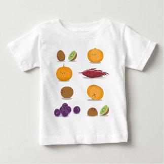 おもしろいなフルーツのおもしろいのパック ベビーTシャツ