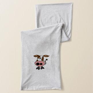 おもしろいなブラウンおよび白い牛漫画 スカーフ