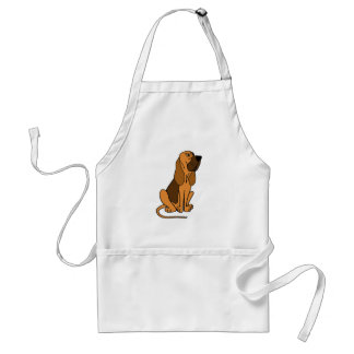 おもしろいなブラッドハウンドの小犬 スタンダードエプロン