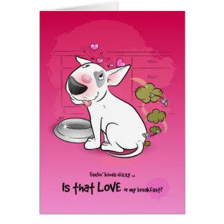 おもしろいなブルテリアの漫画カード愛 カード