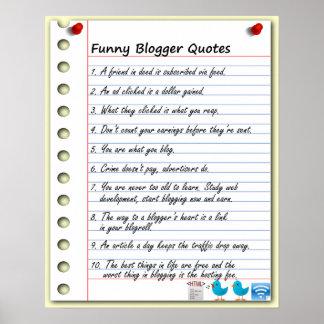 おもしろいなブロガーの引用文 ポスター