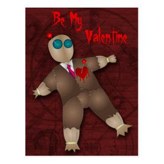 おもしろいなブードゥー愛バレンタインの郵便はがき ポストカード