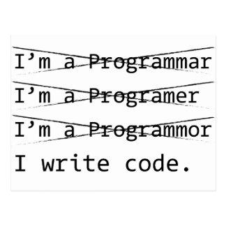 おもしろいなプログラマー ポストカード