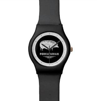 おもしろいなベーコンの恋人のヴィンテージのブタ- Porkatarian 腕時計