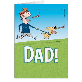 おもしろいなベーコンの恋人の父の日カード グリーティングカード