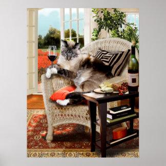 おもしろいなペットポスター猫ちゃんの楽しい時間 ポスター