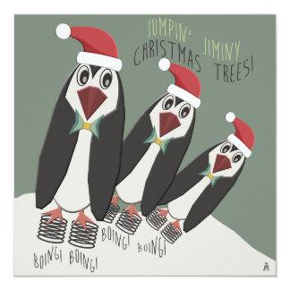 おもしろいなペンギンのクリスマスのクッキー交換 カード