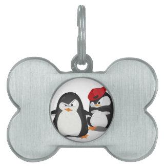 おもしろいなペンギンのデザイン ペットネームタグ