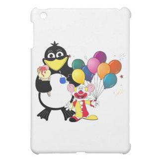 おもしろいなペンギン及びピエロの漫画 iPad MINIケース