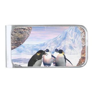 おもしろいなペンギン シルバー マネークリップ