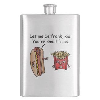 おもしろいなホットドッグのフライドポテトの食糧しゃれ フラスク