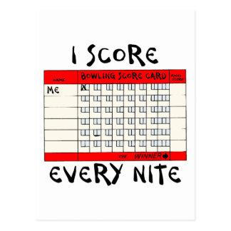 おもしろいなボーリングIのスコアあらゆるNite ポストカード