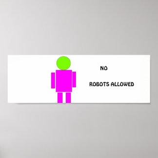 おもしろいなポスターを「与えられる」ロボット無し。 カスタマイズ可能 ポスター
