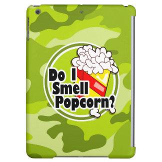 おもしろいなポップコーン; 若草色の迷彩柄、カムフラージュ iPad AIRケース