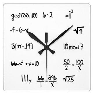 おもしろいなポップ・アートのなクイズの数学の天才 スクエア壁時計