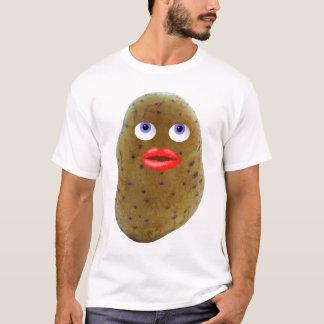 おもしろいなポテトのかわいいキャラクターの人のTシャツ Tシャツ