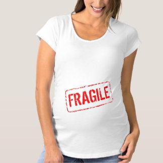 おもしろいなマタニティシャツ|の壊れやすいゴム印 マタニティTシャツ