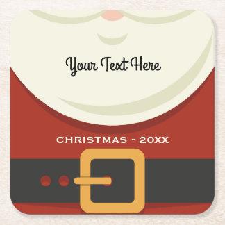 おもしろいなメリークリスマスのサンタクロースのスーツのカスタム スクエアペーパーコースター