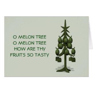 おもしろいなメロンのクリスマスツリー カード