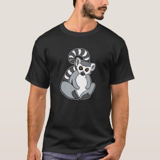 おもしろいなモデルによってリング後につかれるLemur Tシャツ