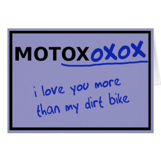 おもしろいなモトクロスの土のバイクのバレンタインデーカード カード