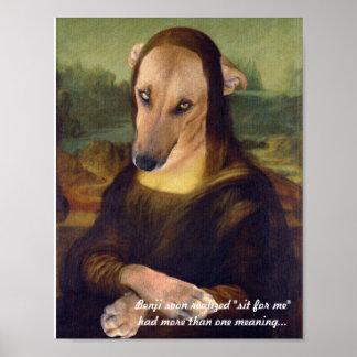 おもしろいなモナ・リザの小犬 ポスター