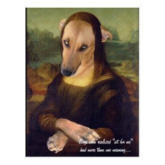 おもしろいなモナ・リザ犬のミームの写真 ポストカード