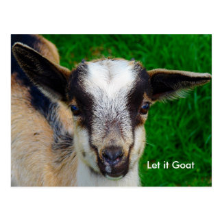おもしろいなヤギのパロディ ポストカード