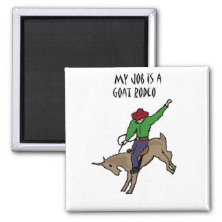 おもしろいなヤギのロデオの仕事のユーモアの漫画 マグネット