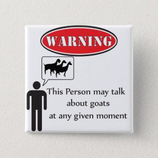 おもしろいなヤギの警告 缶バッジ