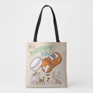 おもしろいなヤギは|私の幸せな丸薬GetYerGoatをカスタマイズ トートバッグ