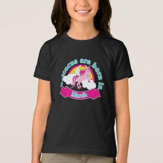 おもしろいなユニコーンのワイシャツ| 3月の誕生日 Tシャツ