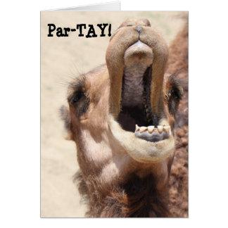おもしろいなラクダカード、PAR-TAYはあなたの誕生日を好みます! カード