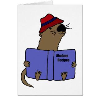 おもしろいなラッコの読書アワビのレシピの本 カード
